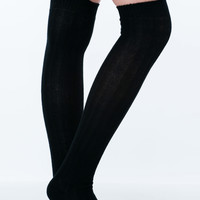 Ribbed Thigh High Socks GoJane.com