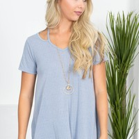 Soft Love Basic Top | Powder Blue