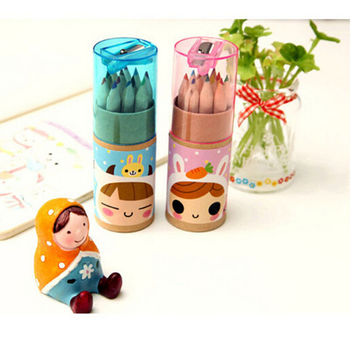 Reliable 12X Colorful Wood Pencil  For Children Stationery Sketch Drawing LS2