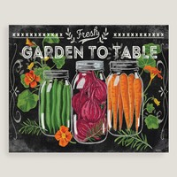 Mason Jar Garden Table by Jennifer Brinley