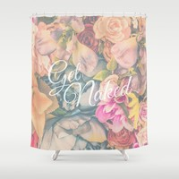 Get Naked Floral Shower Curtain by The Backwater Co