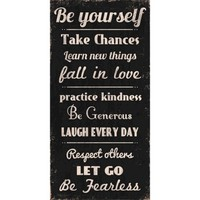 Be Yourself Unframed Wall Canvas (12x24)