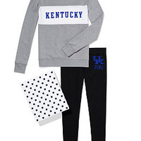 University of Kentucky Colorblock Crew & Legging Gift Set - PINK - Victoria's Secret