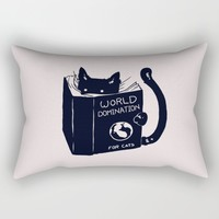 World Domination For Cats Rectangular Pillow by Tobe Fonseca