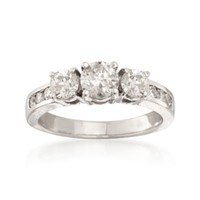 1.50 ct. t.w. Diamond Three-Stone Ring in 14kt White Gold