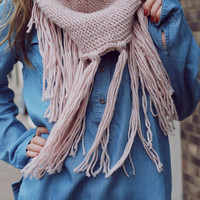 Cooler Days Ahead Infinity Scarf - Blush