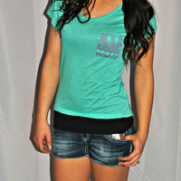 MINT RETRO POCKET TOP