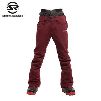 StormRunner winter snow ski pants for men windproof waterproof outdoor trousers