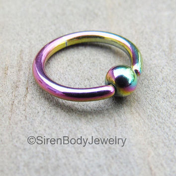 Helix piercing hoop 16g cartilage earring ring rainbow titanium captive bead small daith earring tiny septum hoops ear body jewelry rings 1