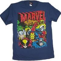Marvel Comics Team 12 Cents T-Shirt | Vintage Superhero T-Shirt