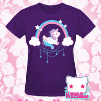 Kawaii Fairy Kei Pastel Unicorn Wish Womens Tee