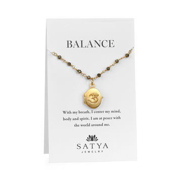Infinite Connection Gold Locket Carded Necklace