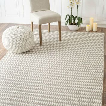 NuLOOM Outdoor Striped Yasmin Rug Ivory