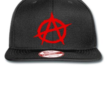 Anarchy embroidery - New Era Flat Bill Snapback Cap
