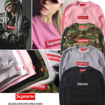 Camo street fashion supreme Sweathshirt