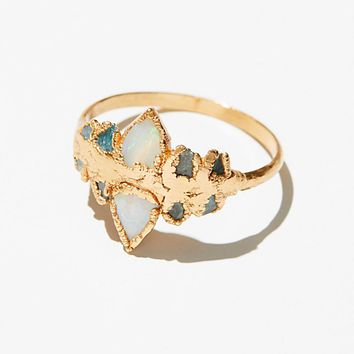 Diamond Slice Enement Ring | Best Raw Opal Ring Products On Wanelo