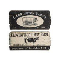 Farm Fresh Plaques - Set of 2