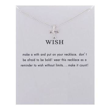Little Crass Card Alloy Clavicle Pendant Necklace   171212