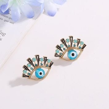 Blue Eyes Women Party Stud Earrings