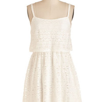 ModCloth Short Length Spaghetti Straps A-line Romp and Circumstance Dress
