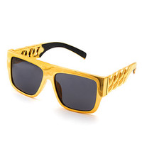 All Gold Curb Chain Sunglasses