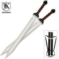 BUDK Catalog: Gladiator Warrior Twin Sword Set and Sheath