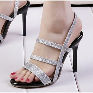 New open-toe strap-strap stilettos shoes
