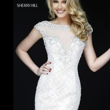 Sherri Hill 11311 Beaded Lace Cocktail Dress