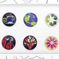 Bubble Buttons The ORIGINAL Home Button Sticker Ecology Pack of 6 / iPad/iPhone/iPod