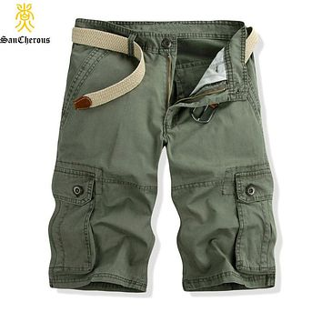 2019 Mens Military Cargo Shorts 2016 Brand New Army Camouflage Shorts Men Cotton Loose Work Casual Short Pants Plus Size 28-38