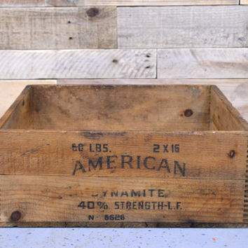 Vintage Dynamite Crate, American Cyanamid and Chemical Corp Crate, Vintage Wood Crate