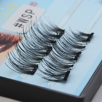 1 Set Eye Lashes 3D Triple Magnetic Natural False Eyelashes Handmade Soft Lashes Makeup Extension Tools No Glue Required