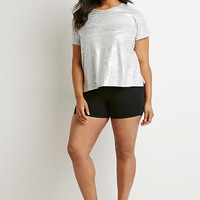 Metallic Heathered Tee