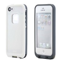 GEARONIC Waterproof Shockproof Full Body Skin Case Cover Pouch for iPhone 5, Multi Purpose Protective Skin for water, shock, snow, dirt - White