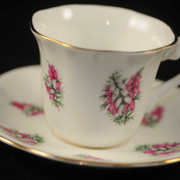 "Cup and Saucer, Collectible Taylor and Kent bone china ""Elizabethan"""