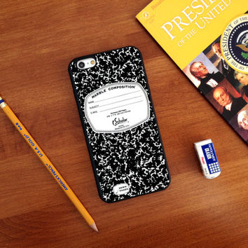 Composition Notebook, Custom Phone Case for iPhone 4/4s, 5/5s, 6/6s, 6/6s+, iPod Touch 5