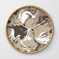 Mocha Wall Clock by KJ Designs