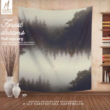 Forest dreams - Wall Tapestry - Tapestry - Forest - Forest Wall Tapestry - Nature - Surreal - Wall Art - Boho - Wall Decor - Christmas Gift