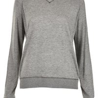 Knitted Fine Stitch Sweater - Sweatshirts & Hoodies - Jersey Tops  - Clothing
