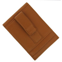 Cherokee Tan Leather Wallet Money Clip