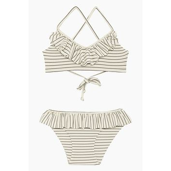 Lanai Bikini Set (Kids) - Coastal Stripe