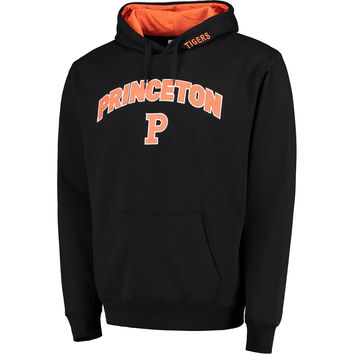 Princeton Tigers Black Arch & Logo Pullover Hoodie