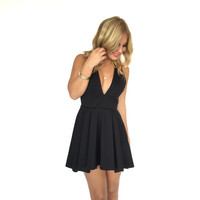 Dreamy Skater Dress In Black