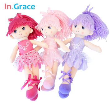 In.Grace Ballerina girl dolls beautiful handmade princess dancing girls wedding dolls unique gifts for kids girl 12inch 3 colors