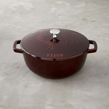 Staub Cast-Iron Essential French Oven, Rooster Design