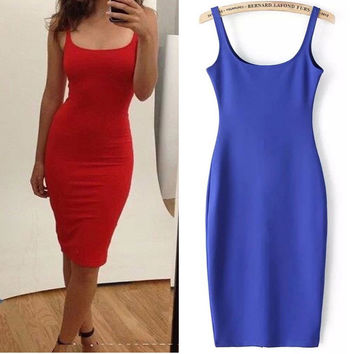 7 Colour Women Simple Casual Dress Simple Brand Designer Sleeveless American Apparel Summer Style dresses Tango Vestidos Z1066