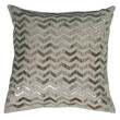 """Applique of Hand Sequin Natural Pillow Cover (18"""" x 18"""")"""