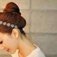 New Woman's Handmade Gold Rose Flower Hairpiece Hair Accessories Headb