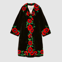 Gucci Flower intarsia mink fur coat
