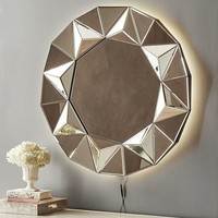 Geometric Backlit Mirror